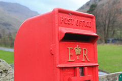 Isolated British red post Royalty Free Stock Photo