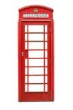 Isolated British Telephone Box Royalty Free Stock Images