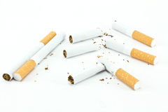Isolated Broken cigarette Stock Images