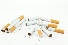 Isolated Broken cigarette Stock Photos