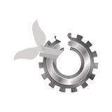 Isolated broken gear design Stock Image
