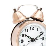 Isolated bronze vintage alarm clock Royalty Free Stock Images