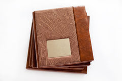 Isolated brown book Royalty Free Stock Photography