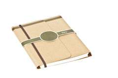 Isolated brown note book diary Stock Photos