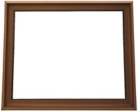 Isolated brown painting frame Stock Photo