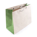 Isolated of the brown paper bag for shopping. The isolated of the brown paper bag for shopping on a white background Royalty Free Stock Photo