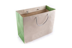Isolated of the brown paper bag for shopping. The isolated of the brown paper bag for shopping on a white background Stock Image