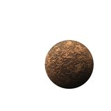 Isolated brown planet Royalty Free Stock Photo