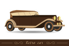 Isolated brown retro car Stock Photo