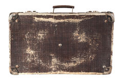 Isolated Brown Suitcase Stock Photography