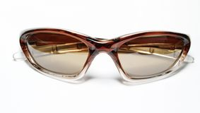 Isolated brown sunglasses Royalty Free Stock Photography