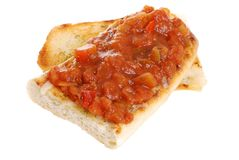 Isolated bruschetta Royalty Free Stock Image