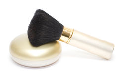Isolated brush for make-up Royalty Free Stock Photography