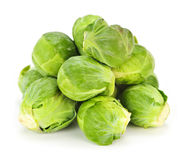 Isolated brussels sprouts Royalty Free Stock Photos