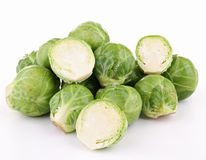 Isolated brussels sprouts Royalty Free Stock Photo