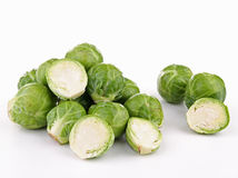 Isolated brussels sprouts Stock Images
