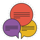 Isolated bubble design. Bubble icon. Communication message conversation and talk theme. Isolated design. Vector illustration Royalty Free Stock Photography