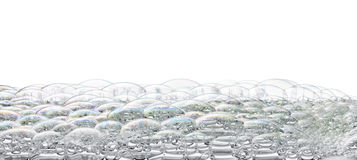 Isolated Bubbles Foam Background. Bubbles and foam isolated on white Stock Photos