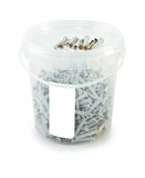 Isolated bucket of screw Royalty Free Stock Photography