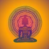 Isolated Buddha Silhouette And Mandala Design. Stock Images