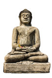 Isolated - Buddha Statue , Old Chedi In Wat Phra That Hariphunc Stock Photography