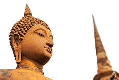 Isolated Buddha statue and Pagoda Royalty Free Stock Images