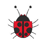 Isolated bug design Stock Images
