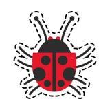 Isolated bug design Royalty Free Stock Photos