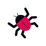 Isolated bug symbol Royalty Free Stock Images