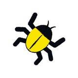 Isolated bug symbol Stock Images