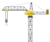 Isolated builder crane side view design  Royalty Free Stock Image