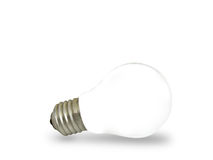 Isolated bulb. Isolated light bulb on white background Royalty Free Stock Photography