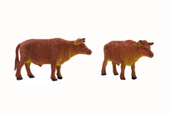 Isolated bull toy photo. Stock Image