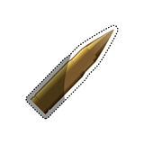 Isolated bullet gun. Icon  illustration graphic design Stock Photos