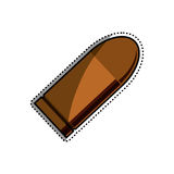 Isolated bullet gun. Icon  illustration graphic design Royalty Free Stock Photo