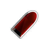 Isolated bullet gun. Icon  illustration graphic design Stock Photo