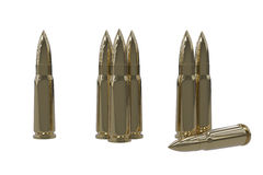 Isolated Bullets Stock Image