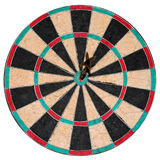 Isolated Bulls-Eye. A perfect bulls-eye on an isolated dart board Royalty Free Stock Image