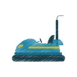 Isolated bumper car design Royalty Free Stock Photography