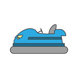 Isolated bumper car design Royalty Free Stock Images