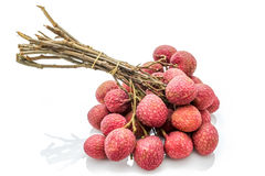 Isolated bunch of lychee on the white background Stock Photo