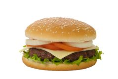 Isolated Burger Royalty Free Stock Image