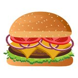 Isolated burger icon Royalty Free Stock Images