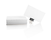 Isolated business cards Stock Photos