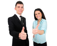 Isolated business couple Royalty Free Stock Photography