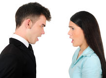 Isolated business couple stock image