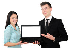Isolated business couple Royalty Free Stock Photo
