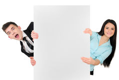 Isolated business couple Royalty Free Stock Images