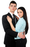 Isolated business couple Royalty Free Stock Image