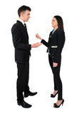 Isolated business couple Stock Photography